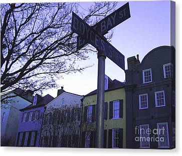 Canvas Print featuring the photograph Night In Savannah by Andrea Anderegg