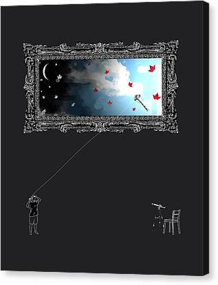 Night In The Day Canvas Print by Vava Fuller-quinn