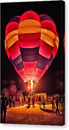 Night Lighting Of Ballon Canvas Print