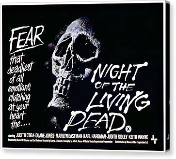 George Romero Canvas Print - Night Of The Living Dead, 1968 by Everett