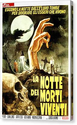 George Romero Canvas Print - Night Of The Living Dead, Aka La Notte by Everett