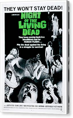 George Romero Canvas Print - Night Of The Living Dead, Duane Jones by Everett
