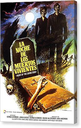 George Romero Canvas Print - Night Of The Living Dead, Spanish by Everett