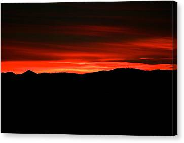 Night On Fire Canvas Print by Kevin Bone