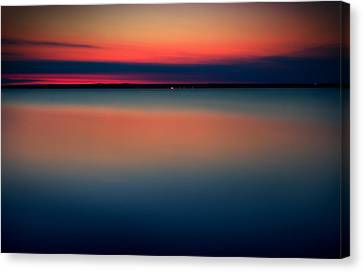 Night On The North Of Sweden Canvas Print by Marek Czaja