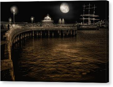 Night Port Canvas Print by Michael Cleere