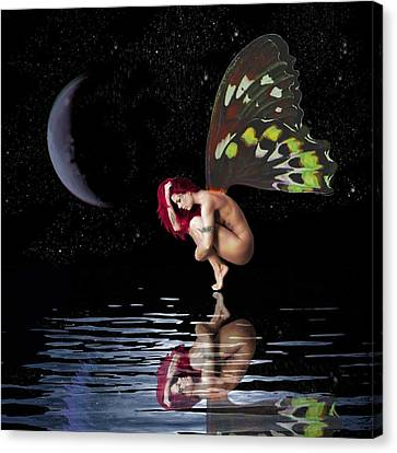 Night Reflection Canvas Print by Diana Shively