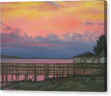 Night Sky Over Lake Marion Canvas Print