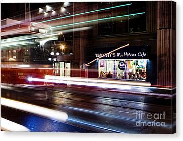 Night Street Motion Canvas Print