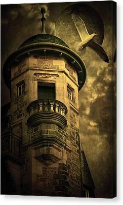 Creepy Canvas Print - Night Tower by Svetlana Sewell