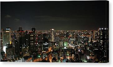 Night View Of Osaka Canvas Print by Billy Gao