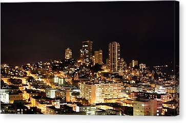 Night View Of San Francisco Canvas Print by Luiz Felipe Castro