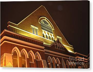 Night View Of The Ryman Canvas Print