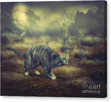 Night Walk Canvas Print by Jutta Maria Pusl