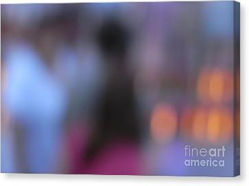 Canvas Print featuring the photograph Imagine Nightfall At The Funfair by Andy Prendy