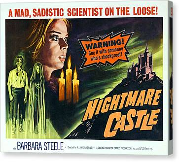Nightmare Castle, Top Left Barbara Canvas Print by Everett