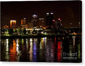Nights In Little Rock Canvas Print by Joe Finney