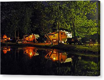 Canvas Print featuring the photograph Nighttime In The Campground by Kay Lovingood