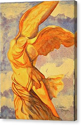 Nike Goddess Of Victory Canvas Print by Teresa Beyer