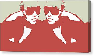 Niki In Mirror Canvas Print by Naxart Studio