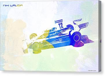 Niki Lauda Canvas Print by Naxart Studio