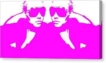 Night Out Canvas Print - Niki Mirror Pink by Naxart Studio