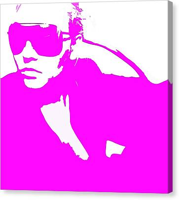 Niki Pink Canvas Print by Naxart Studio
