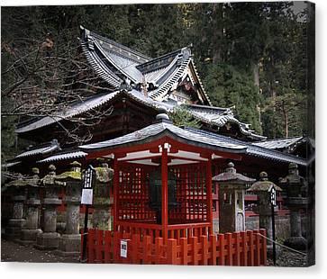 Nikko Monastery Building Canvas Print by Naxart Studio
