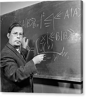 Nikolai Bogolyubov, Soviet Physicist Canvas Print by Ria Novosti