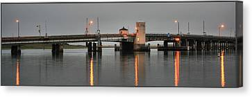 Ninth Street Bridge Ocean City Nj Canvas Print by John Loreaux