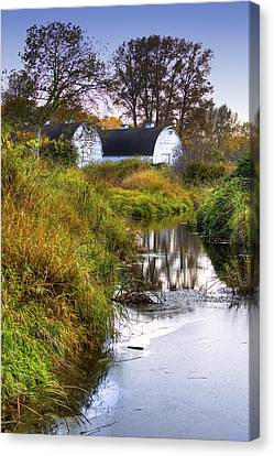 Nisqually Wildlife Refuge P21 The Twin Barns Canvas Print by David Patterson