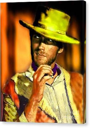 Nixo Clint Eastwood Canvas Print