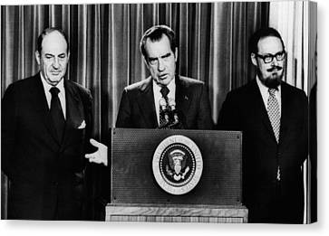 Nixon Presidency.  From Left William Canvas Print by Everett