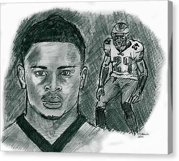 Nnamdi Asomugha Canvas Print by Chris  DelVecchio