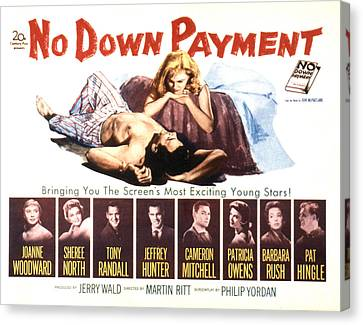 No Down Payment, Joanne Woodward Canvas Print