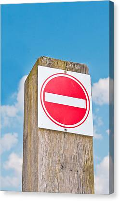 No Entry Sign Canvas Print by Tom Gowanlock