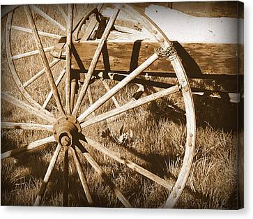 No Gas Needed Buggy Wheels Canvas Print by Cindy Wright