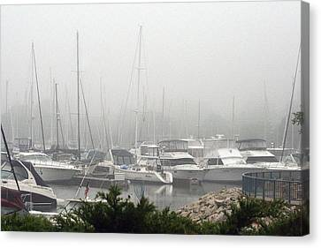 Canvas Print featuring the photograph No Sailing Today by Kay Novy