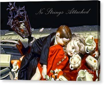 Canvas Print featuring the painting No Strings Attached by Gregory Dyer