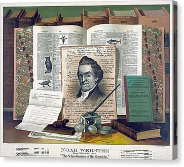 Noah Webster 1758-1843 Created An 1828 Canvas Print by Everett