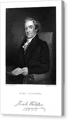 Noah Webster (1758-1843) Canvas Print by Granger