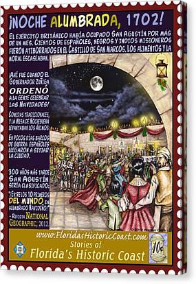 Noche Alumbrada Canvas Print