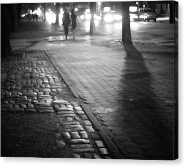 Nocturne - Night - New York City Canvas Print by Vivienne Gucwa