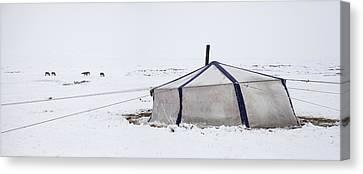 Nomadic Pastoralist Dwelling. Yurt Canvas Print