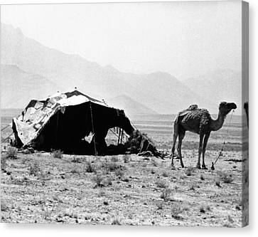 Nomadic Tents Can Be Seen Canvas Print by Everett