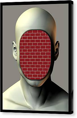 Non-communication, Conceptual Image Canvas Print by Stephen Wood