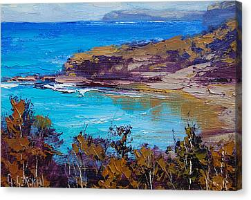 Norah Head Central Coast Nsw Canvas Print by Graham Gercken