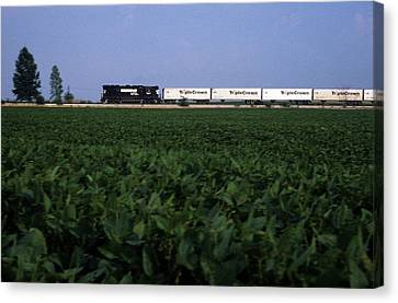 Norfolk Southern Midwest Canvas Print by Susan  Benson
