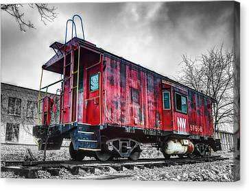Norfolk Western Caboose 57558 Canvas Print by Steve Hurt