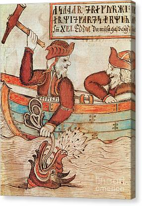 Thor Canvas Print - Norse Mythology Thors Fishing Trip by Photo Researchers